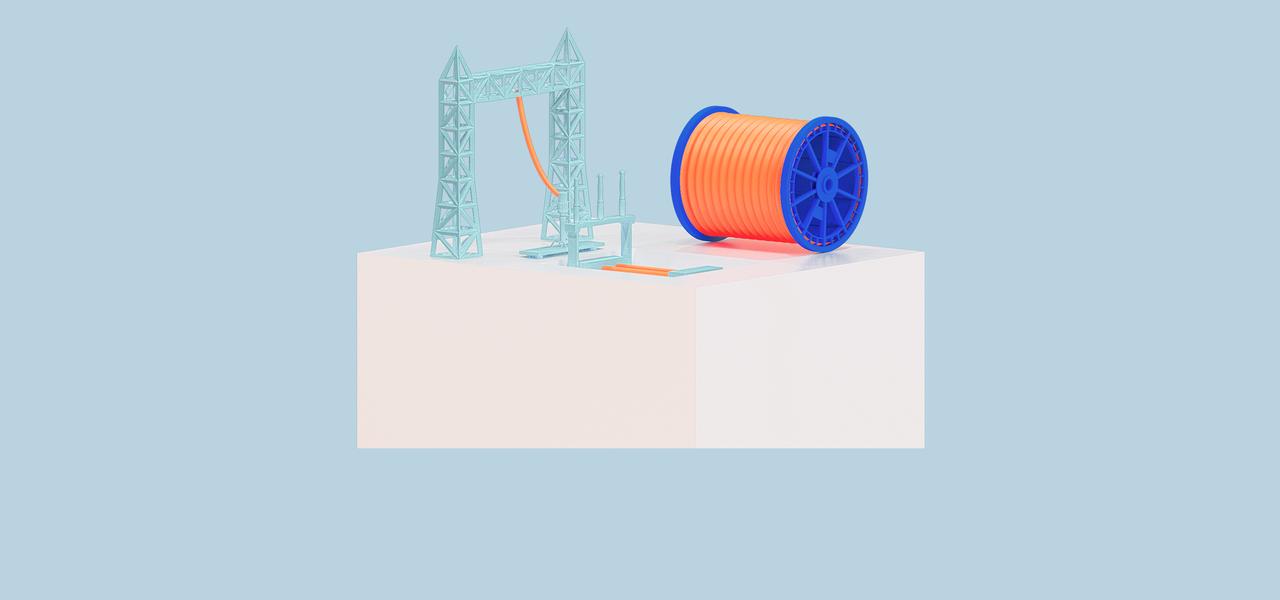 Closeup Kabelübergangsanlage