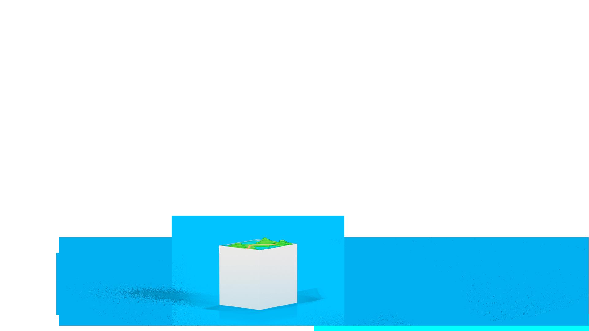 Stele mit Leitungsverlauf auf Karte