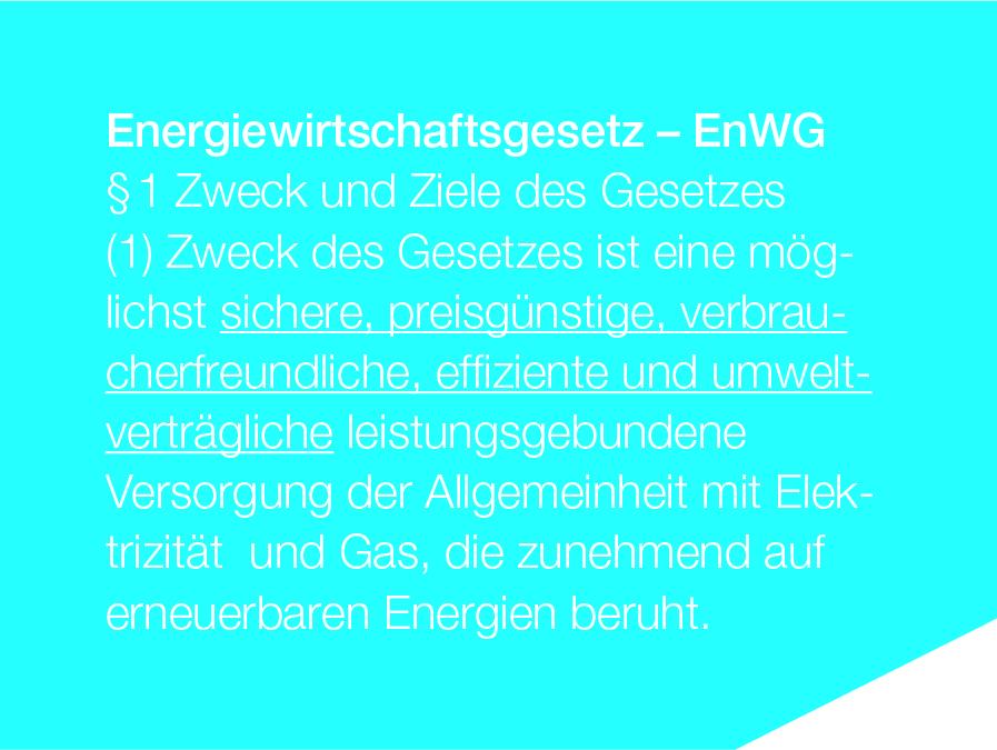 Grafik Energiewirtschaftsgesetz