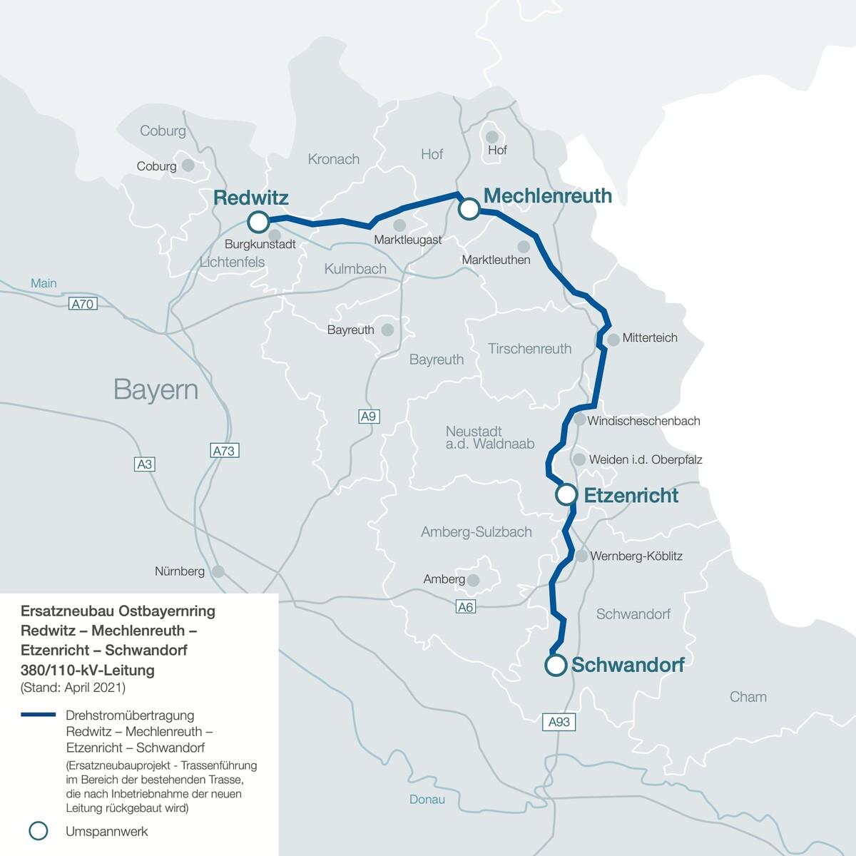 Übersichtskarte Ostbayernring