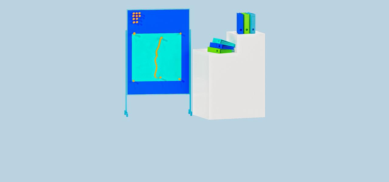 Pinnwand und Ordner