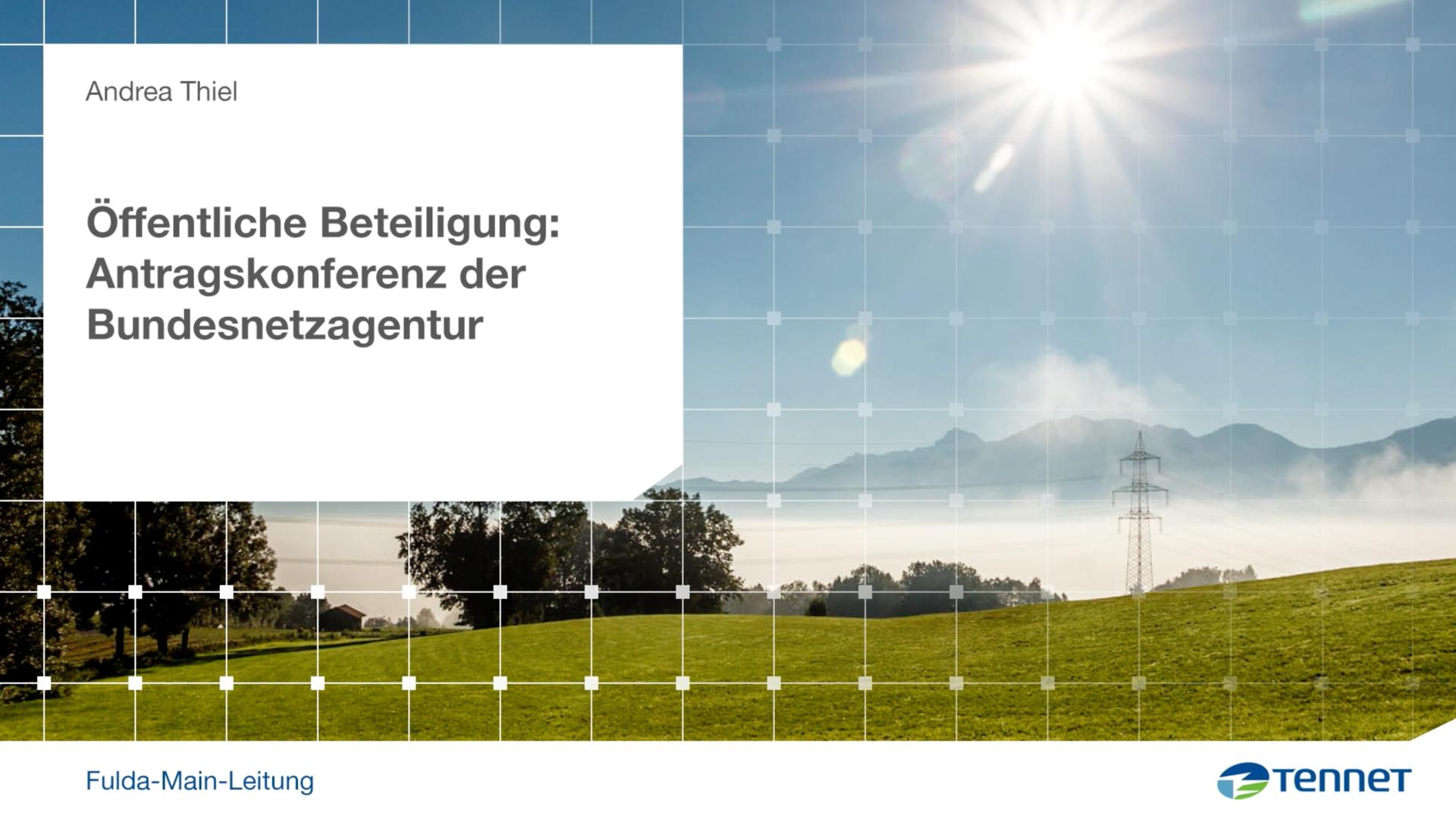 Antragskonferenz der Bundesnetzagentur
