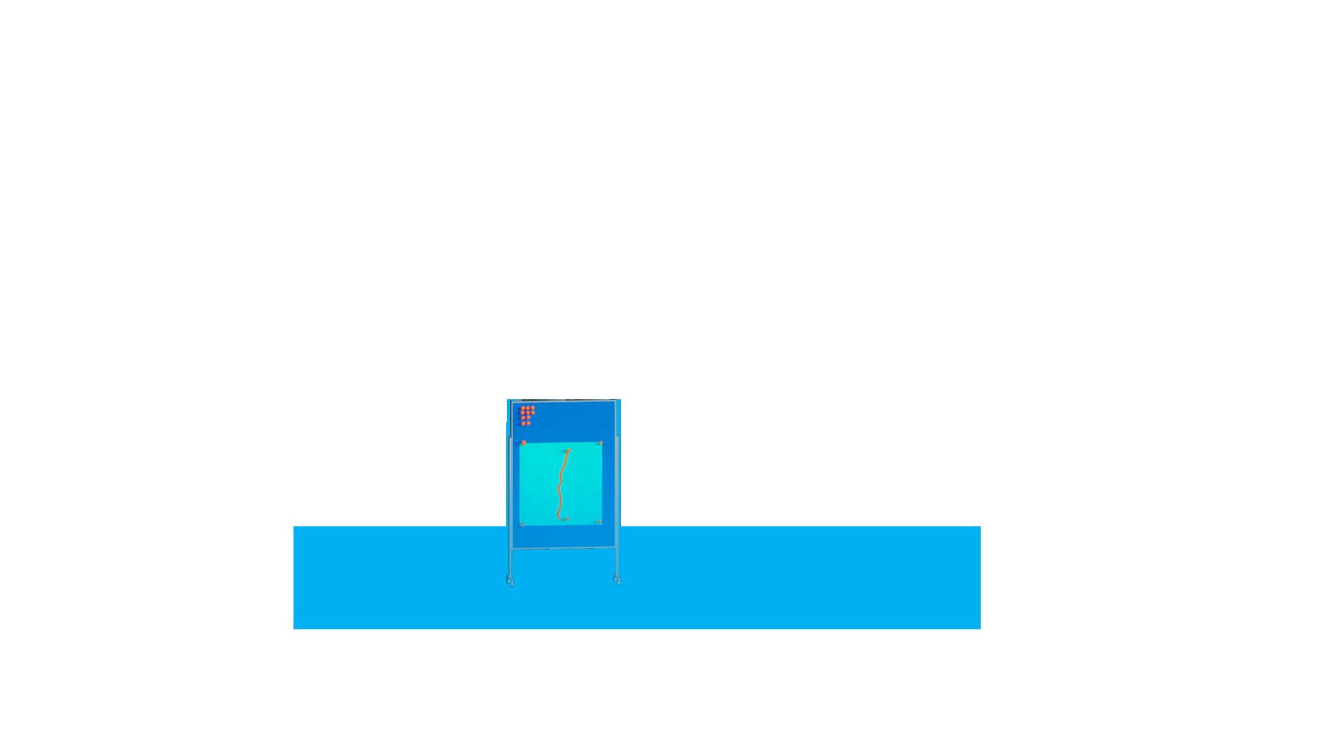 Stele Pinnwand mit Leitungsverlauf