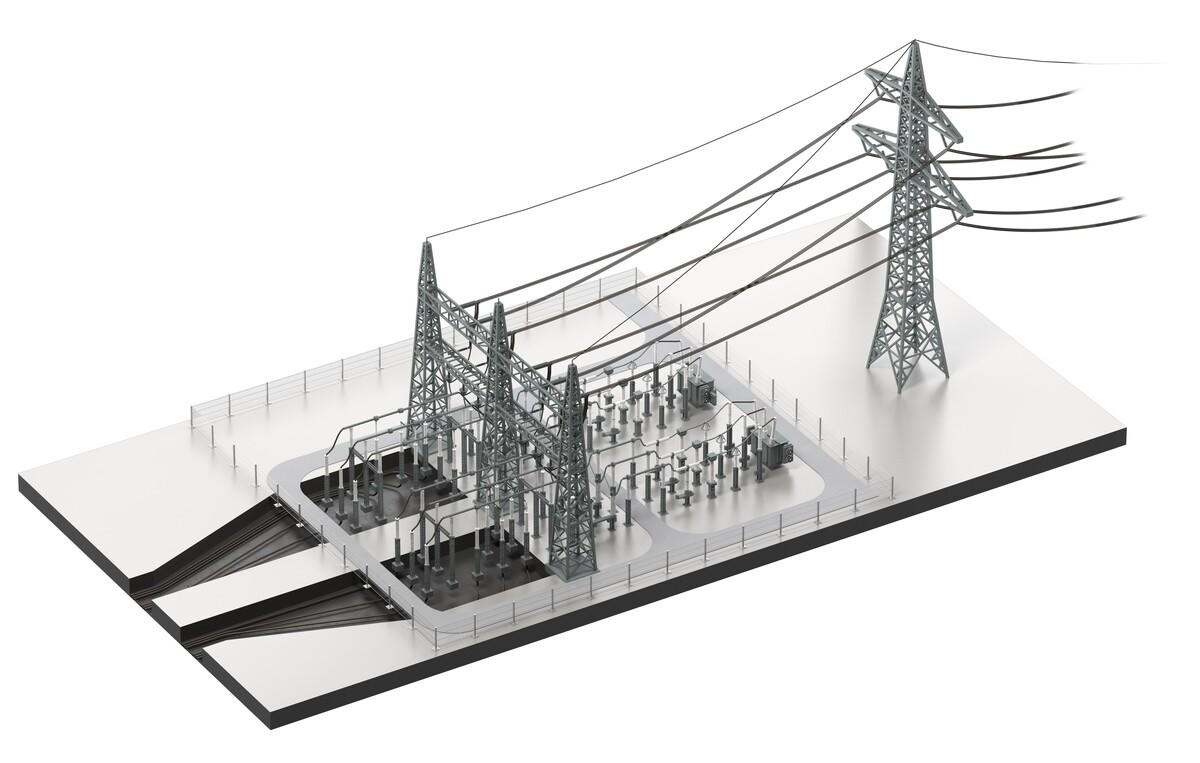 Kabelübergangsanlage 3D-Modell