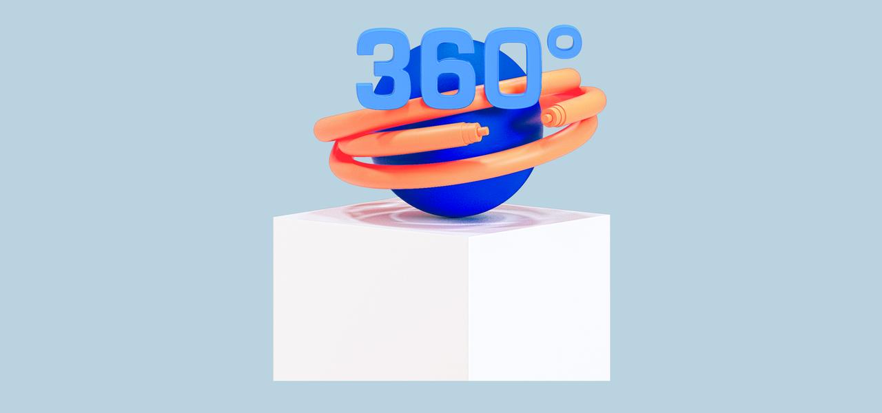 Stele mit 360 Grad Element