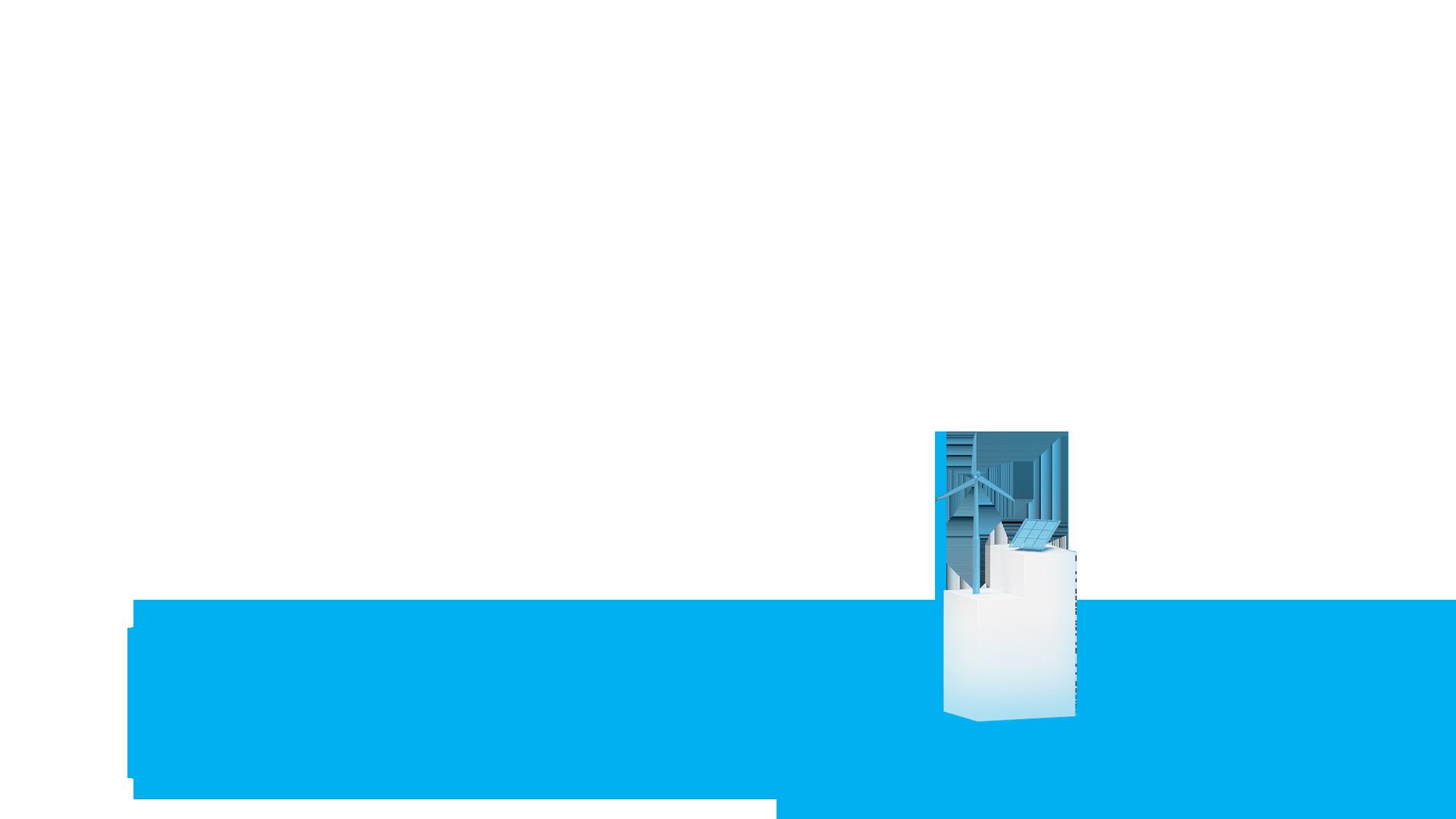 Stele mit Windrad und PV