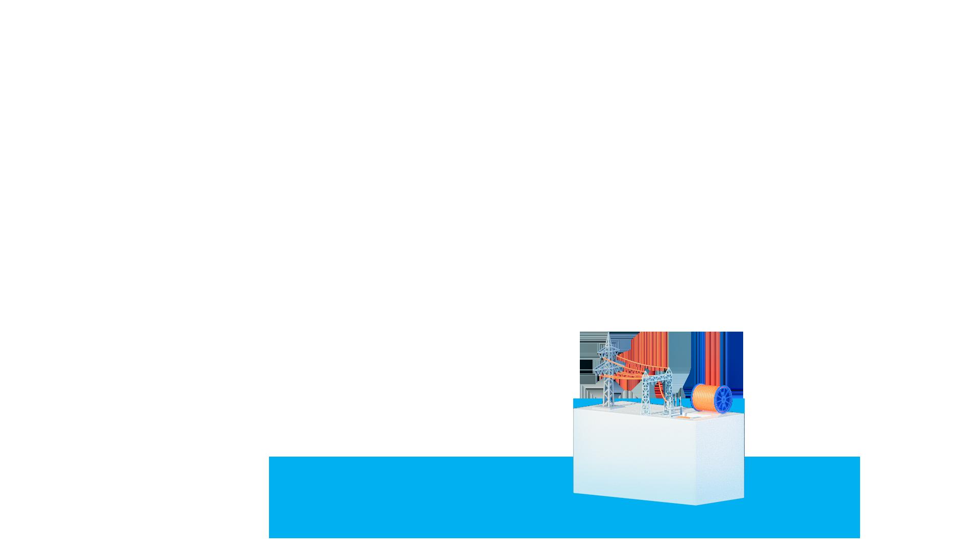 Stele mit Freileitung, Erdkabel und Kabelübergangsanlage